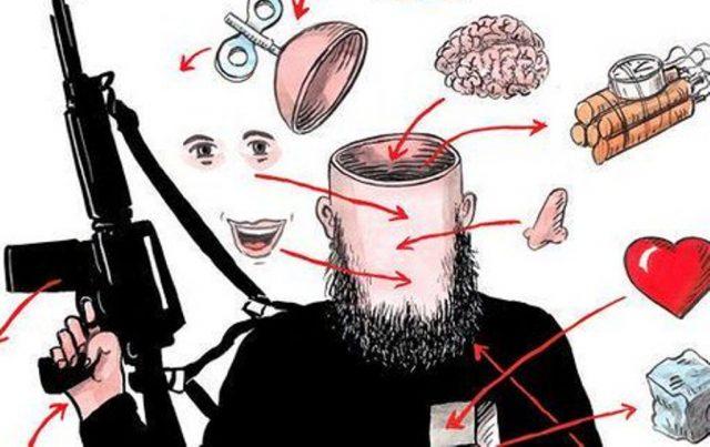 ilustrasi islam radikal